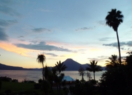 Lago Atitlan at dusk - Panajachel