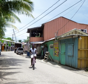main street in Placencia, Belize