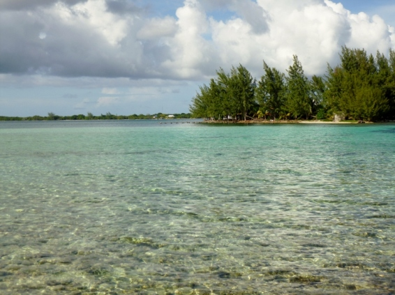 View from Water Cay - Utila