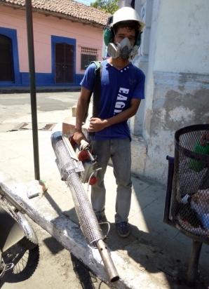 Another fumigator - Leon, Nicaragua