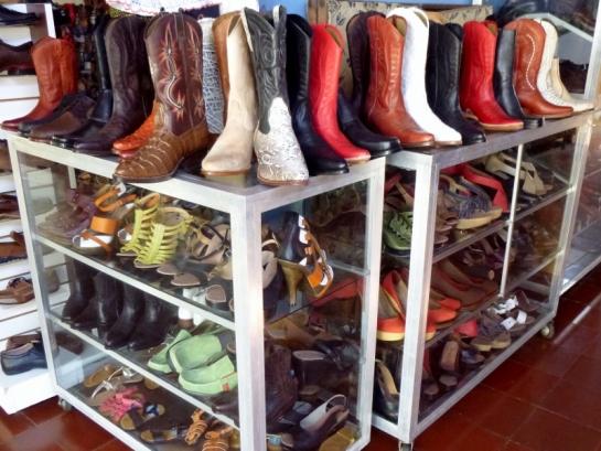 handcrafted boots at the Mercado de Artesanias (the craft market) - Masaya