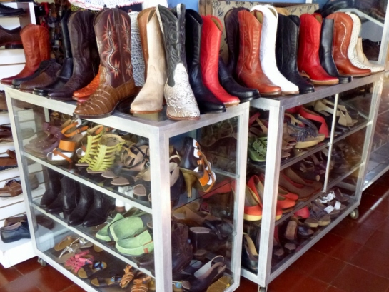 handcrafted boots at the Mercado de Artesanias (the craft market) - Masaya