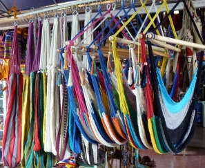 handmade hammocks for sale at Masaya mercado