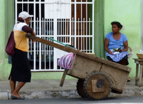 Stopping to chat - Granada, Nicaragua