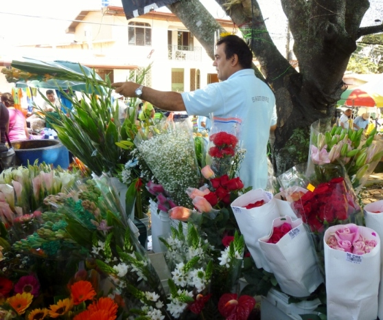 Flowers for sale - Farmers market - Atenas,Costa Rica