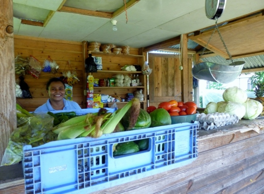 best veggies and fruit on Big Corn Island,Nicaragua
