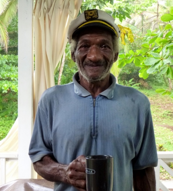 Willie drops by for coffee - Big Corn Island