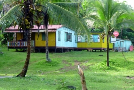 Houses on Long Bay - Big Corn island