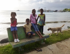 Kids at Brig Bay - Big Corn Island,Nicaragua