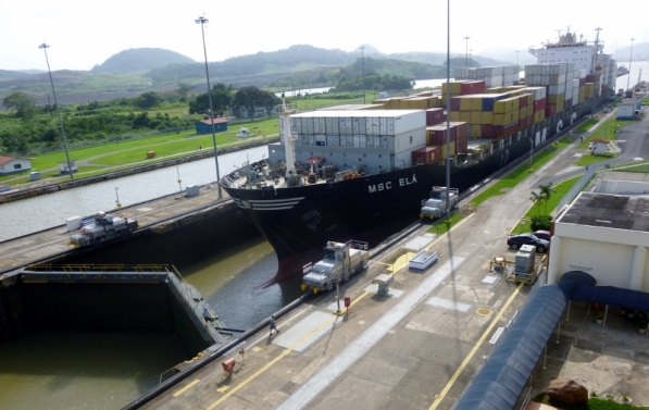 Waiting for the water to rise - Panama Canal