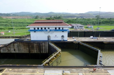 Miraflores locks closed- Panama Canal