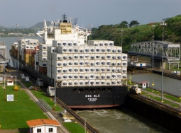 Transiting through the Panama Canal