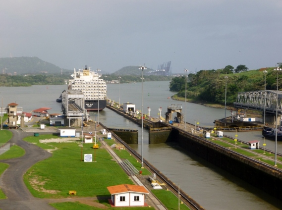 Through the Panama canal