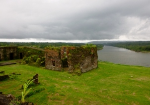 The Chagres River flows into the Pacific - San Lorenzo ruins