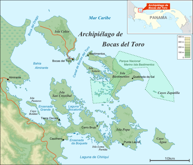 http://en.wikipedia.org/wiki/Col%C3%B3n_Island#mediaviewer/File:Bocas_del_Toro_Archipelago_map.png