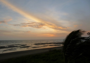 sunrise on the Pacific Guarare, Panama