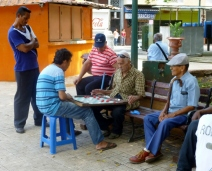 friendly game of checkers in the park - Panama City, Panama