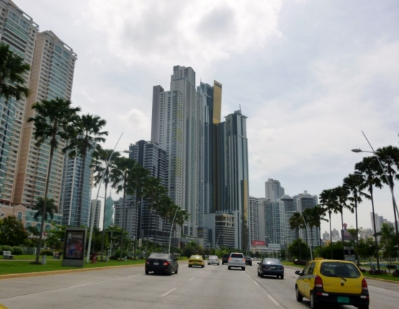 Panama City - skyscrapers and traffic