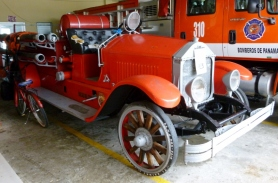 old fire engine circa 1916 Bocas Town