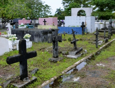 Bocas town graveyard - moldering and mildewing