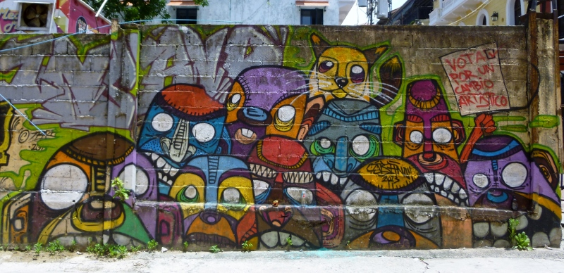 street art among the ruins and gentrification Panama City