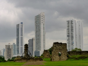 Skyscrapers and ruins Panama City
