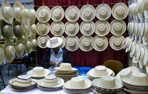 traditional hand-woven Panama hats