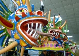 handmade paper mache masks for sale - Panama City