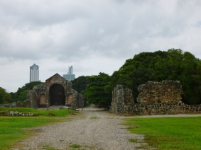 the ruins of 16th century Panama Viejo