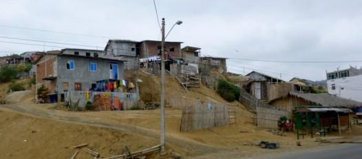 the no-name town near La Pina - south of Manta