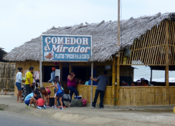 roadside eatery south of Manta