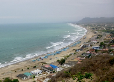 Machallil Bay south of Manta