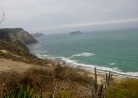 bluffs of Machalilia beach south of Manta