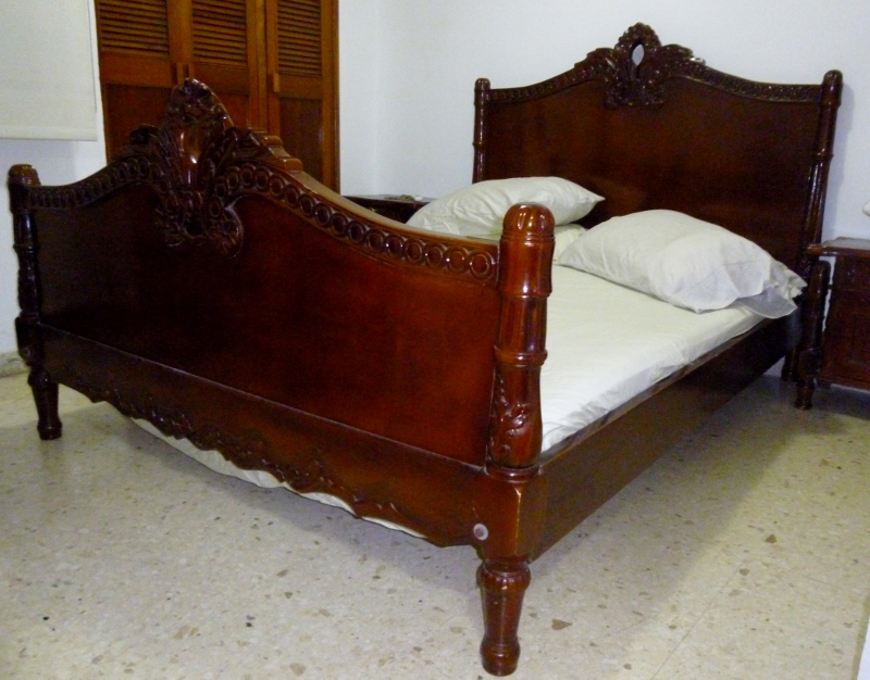 a bed with no mattress