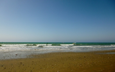 near Murcialago beach at low tide