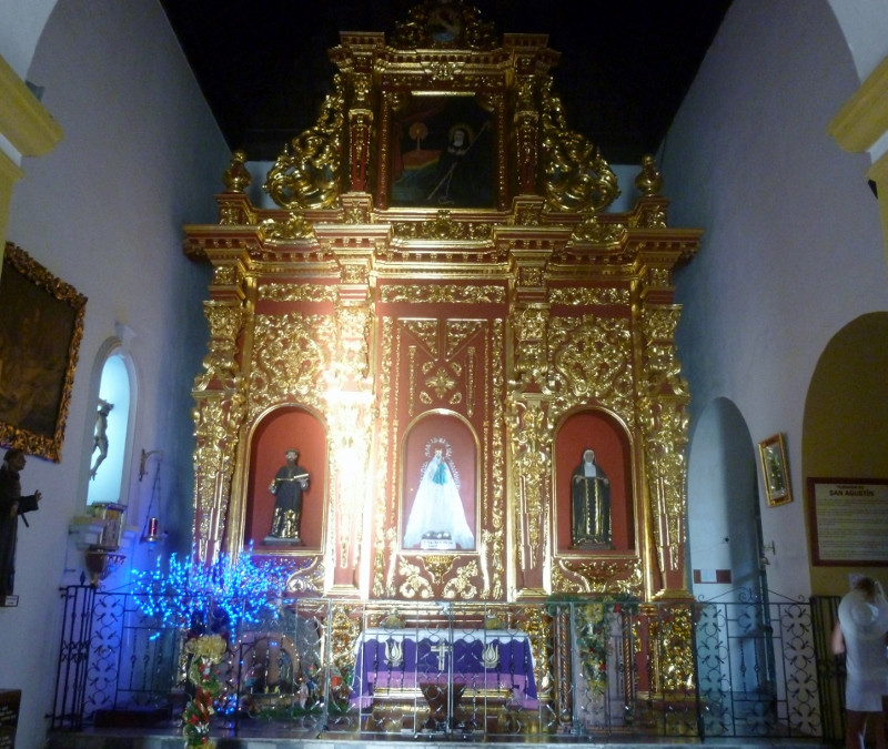 gold encrusted shrine
