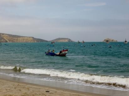 a fishing boat - Manta Beach