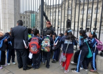 students on a field trip - Lima, Peru