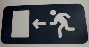 Run! (exit sign) Lima