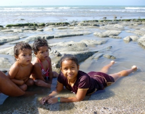 kids on the beach, Manta, Ecuador