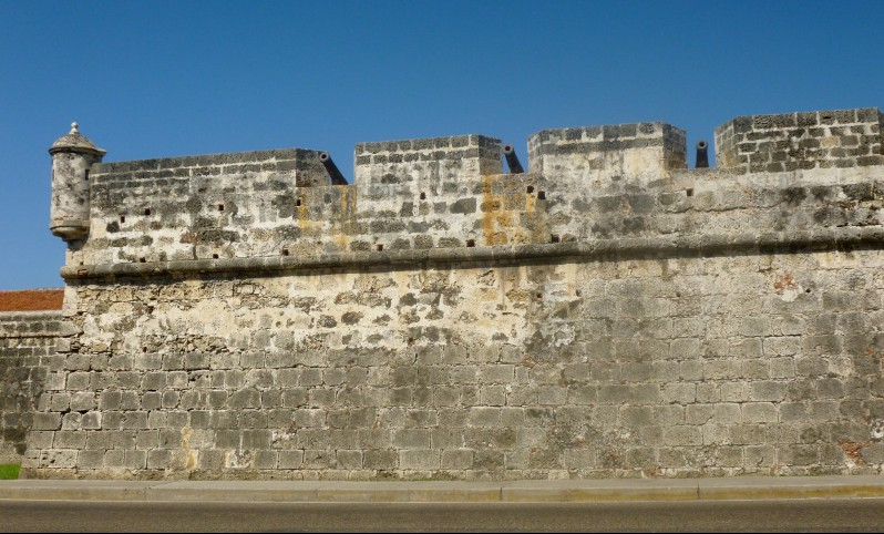 the wall surrounding