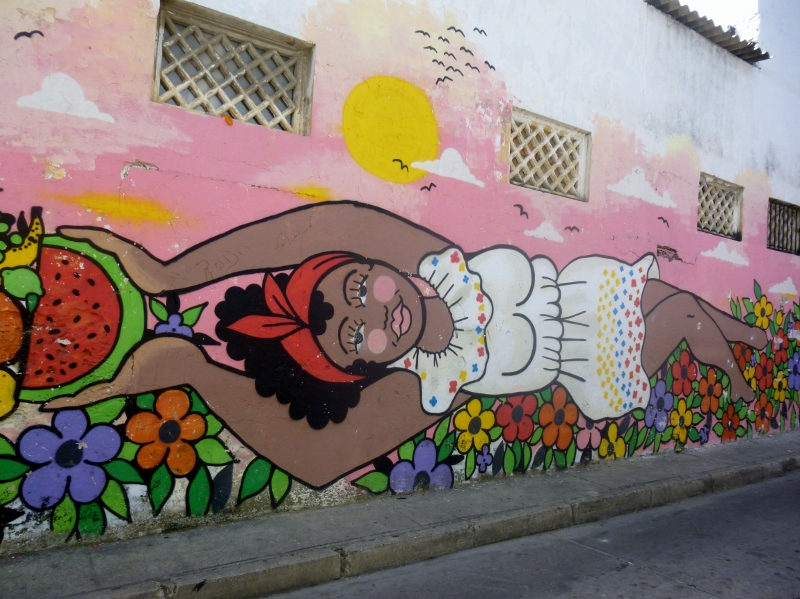 street art in Barrio Getsemani