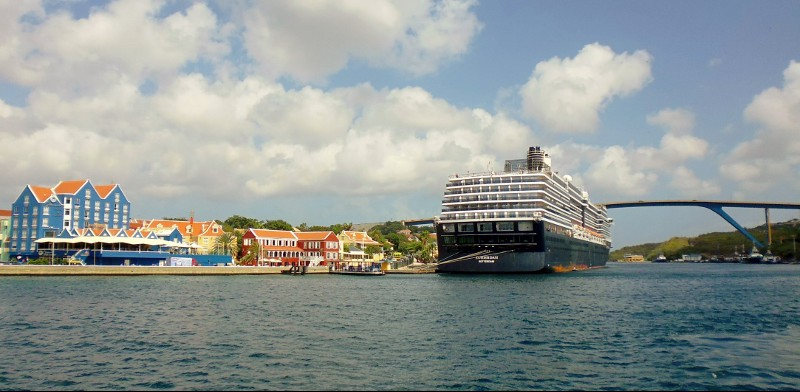 cruise ship moored for a day of sightseeing