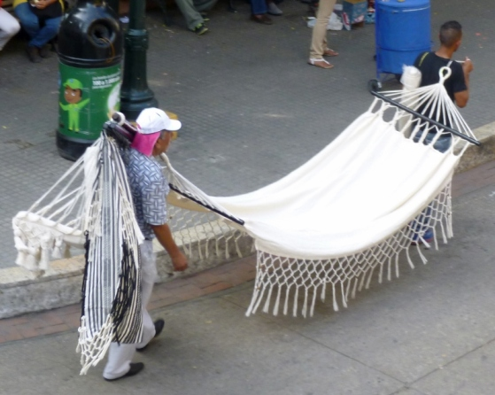 street vendor in old city of Cartagena