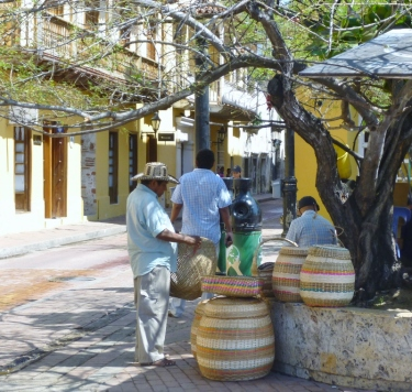 street vendors in Cartagena, Colombia