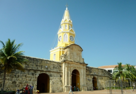 the gate and Clock Tower, Cartagena