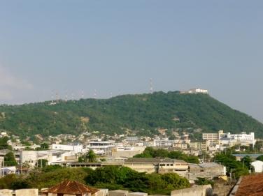 view of the monastery from Castillo de San Felipe de Barajas, Cartagena