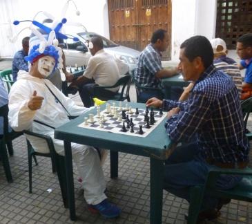 street mime in Cartagena