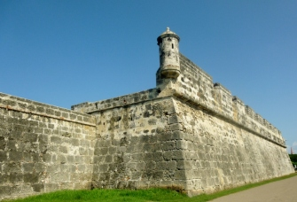 old wall sentry post and sea watch, Cartagena