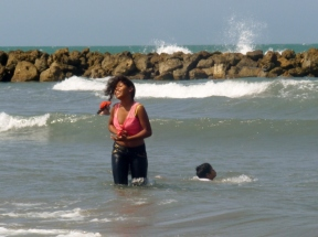 sheer enjoyment, Cartagena beach, Colombia